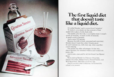 1967 Carnation Liquid Diet #025147