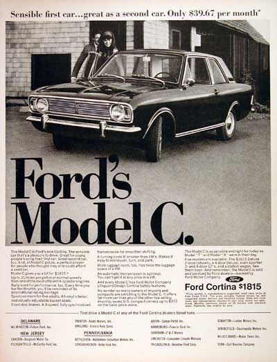 1967 Ford Cortina Model C #004260