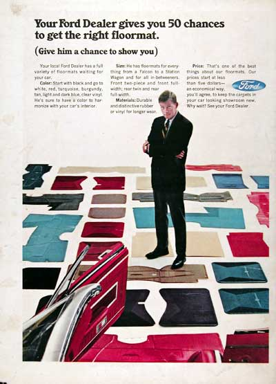 1966 Ford Floormats #023339