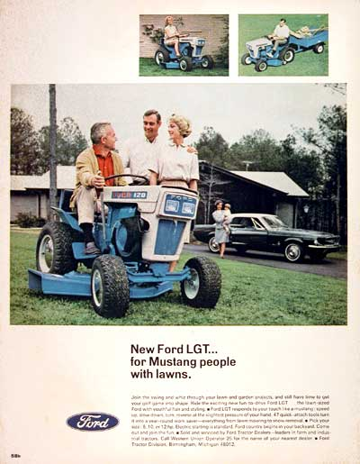1967 Ford LGT Riding Mower #004249