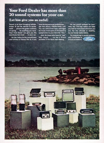 1967 Ford Audio Systems Vintage Ad #025270
