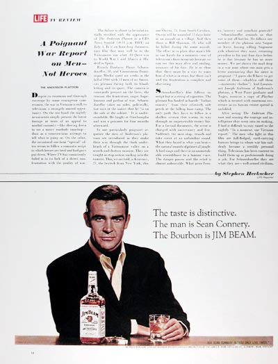 1967 Jim Beam Sean Connery #025131