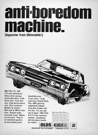 1967 Olds 4-4-2 Coupe #023345