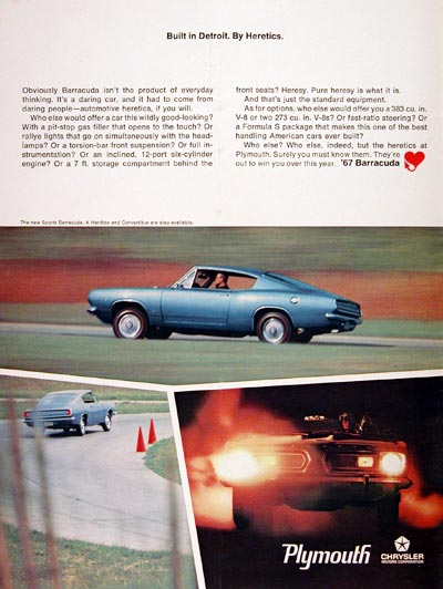 1967 Plymouth Barracuda #004717