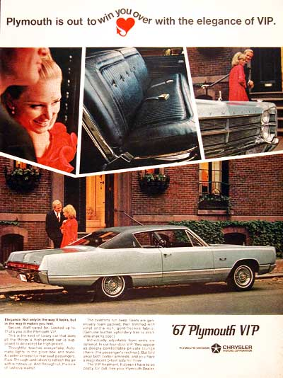 1967 Plymouth VIP Coupe #001747