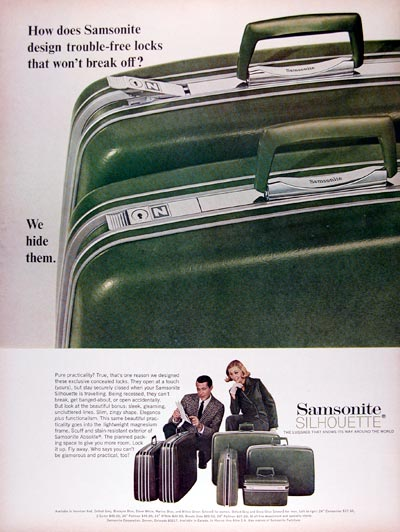 1967 Samsonite Silhouette Luggage #025031