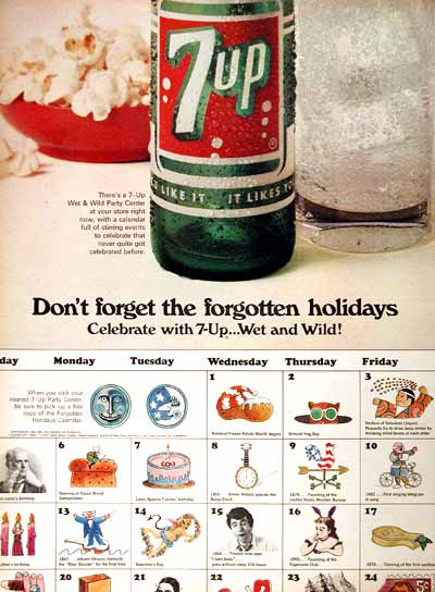 1967 Seven Up Holidays #025097