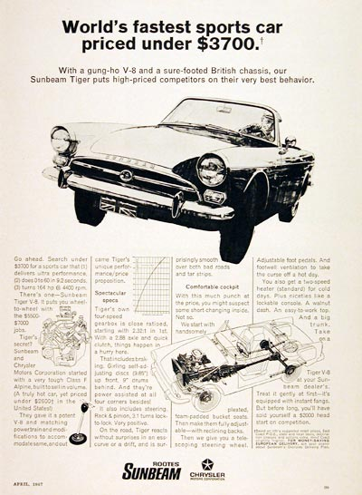 1967 Sunbeam Tiger V8 #004696
