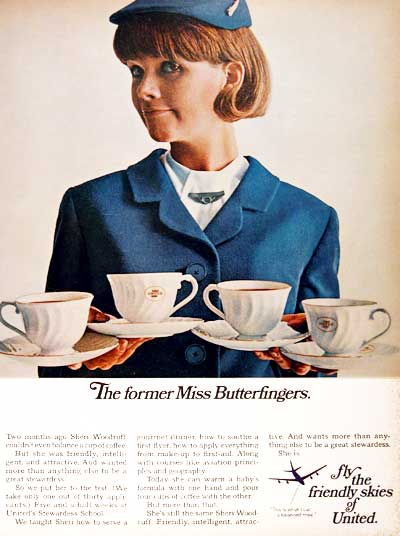 1967 United Stewardess