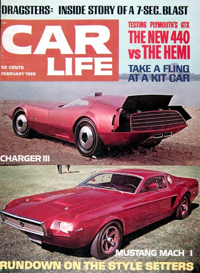 1968 Car Life Cover ~ Dodge Charger Ford Mustang Mach 1 #023866
