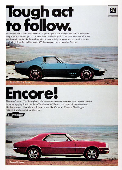 1968 Chevrolet Corvette Sting Ray & Camaro SS #023843