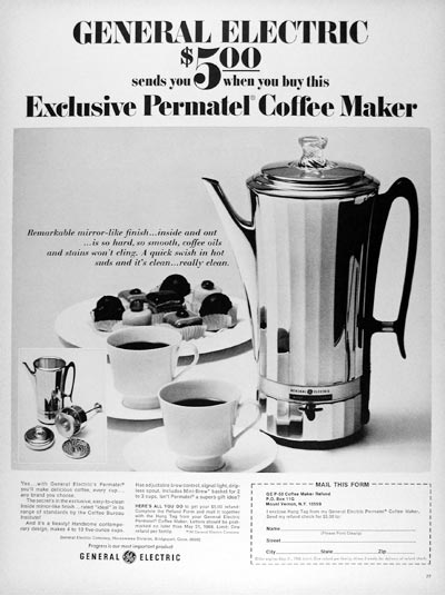 1968 GE Coffee Maker #25212