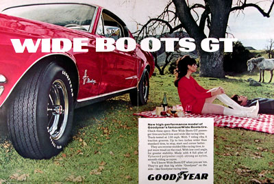 1968 Goodyear Wideboots GT Tires #024150