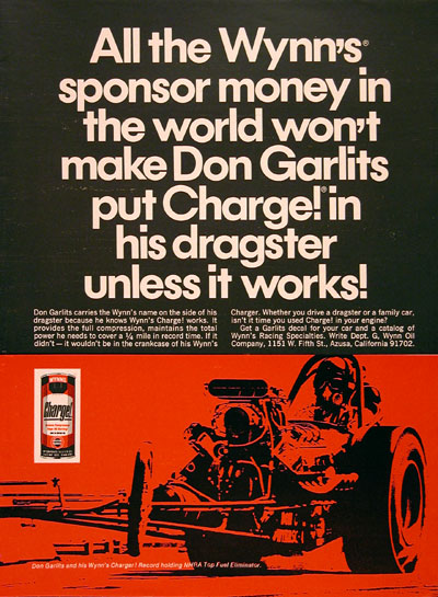 1968 Wynn's Don Garlits #006331