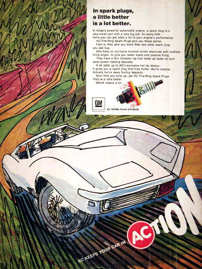 1969 AC Spark Plugs Corvette #023155