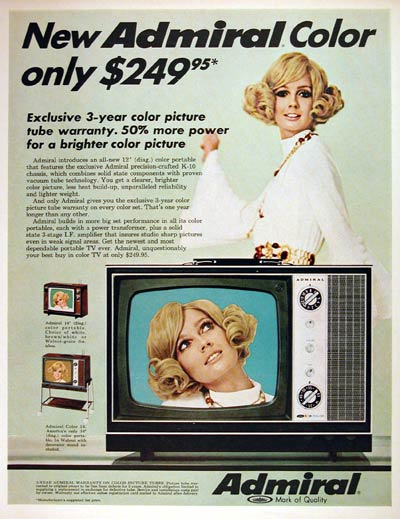 1969 Admiral Color TV #004394