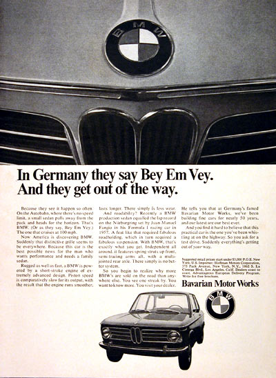 1969 BMW Coupe #004844