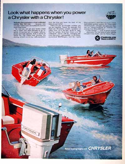 1969 Chrysler Outboard Boats #001609
