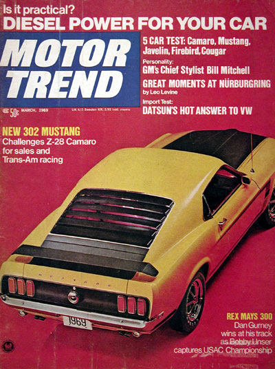 1969 Motor Trend - Ford Mustang 302 #023132