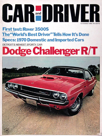 1969 Car & Driver Cover - 1970 Dodge Challenger R/T #023364