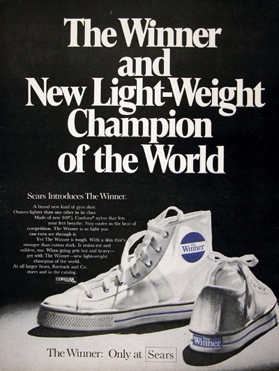 1969 Sears Winner Sneakers #023195
