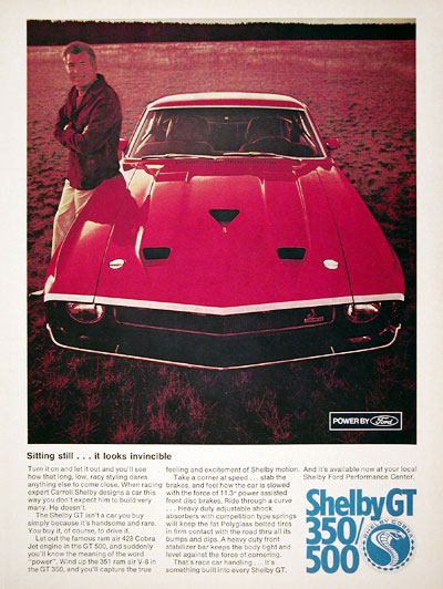 1969 Shelby Ford GT Mustang #023143