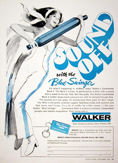 1969 Walker Blue Swinger Muffler #023207