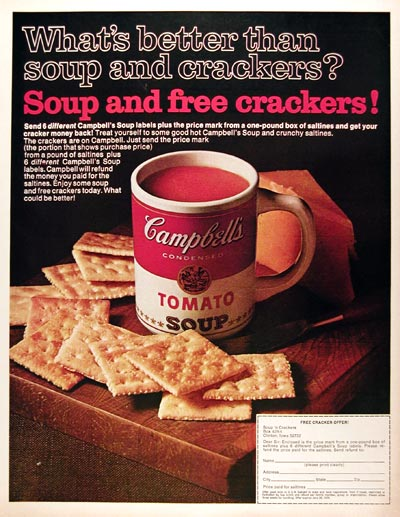 1970 Campbell's Tomato Soup #013073