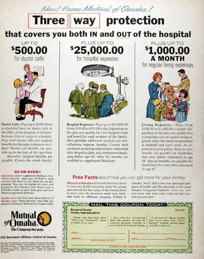 1970 Mutual of Omaha Insurance #013036