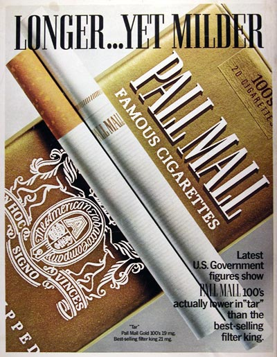 1970 Pall Mall Cigarettes #013052