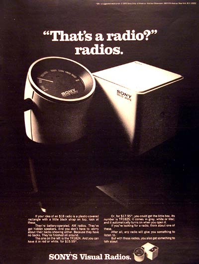 1970 Sony Visual Radio #003563