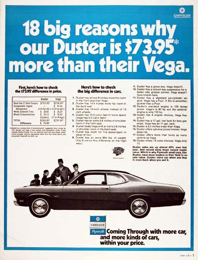 1971 Plymouth Duster #003594