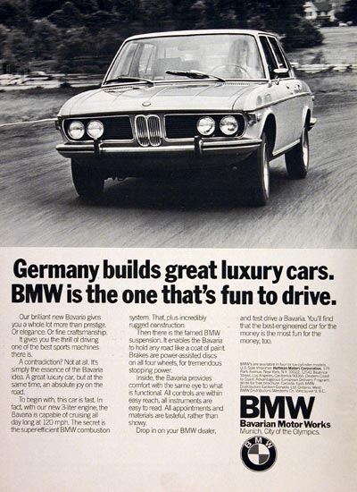 1972 BMW Bavaria Sedan #005007