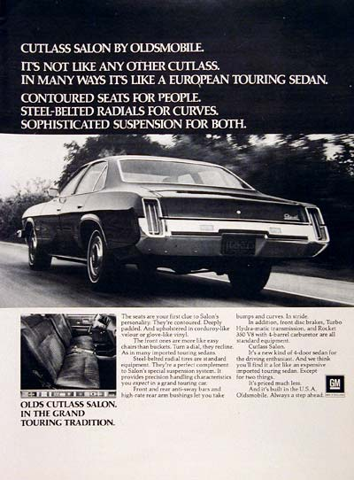 1973 Olds Cutlass Salon #005203