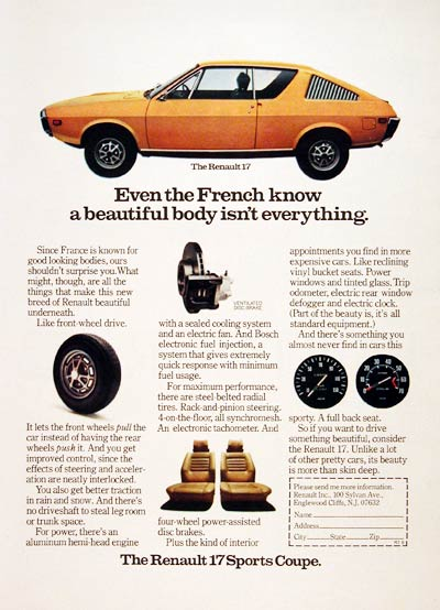 1973 Renault 17 Sports Coupe #005163