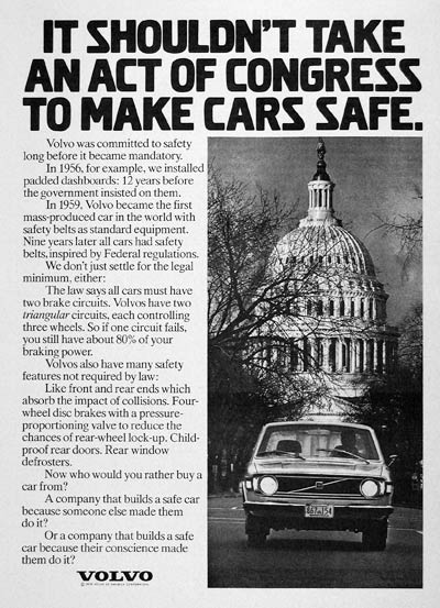 1973 Volvo Safety Record #005161
