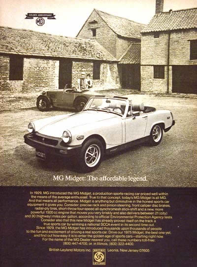 1975 MG Midget Roadster #004512