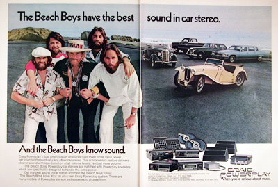 1977 Craig Car Stereo - The Beach Boys #005418