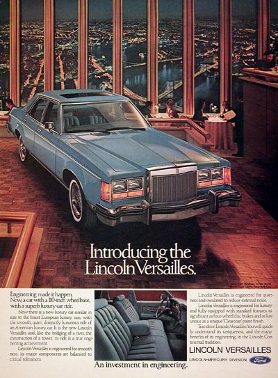 1977 Lincoln Versailles Sedan #005419