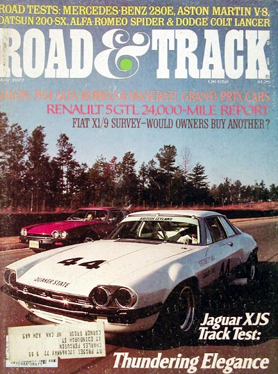 1977 Road & Track Cover - Jaguar XJS Coupe