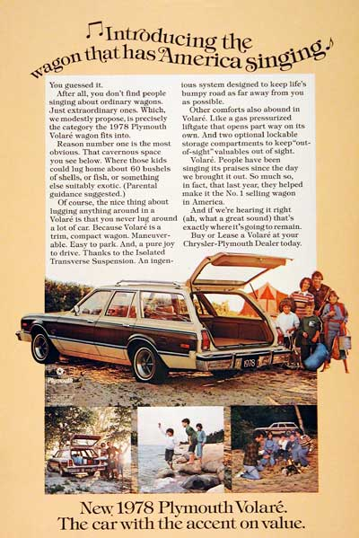 1978 Volare Station Wagon #003011