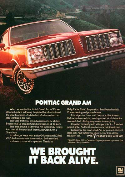 1978 Pontiac Grand Am #004222