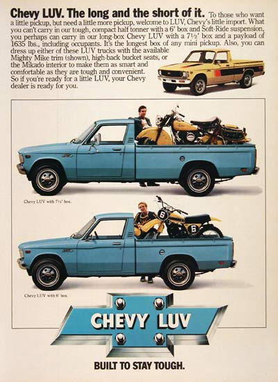 1979 Chevy LUV Pickup Truck #004561