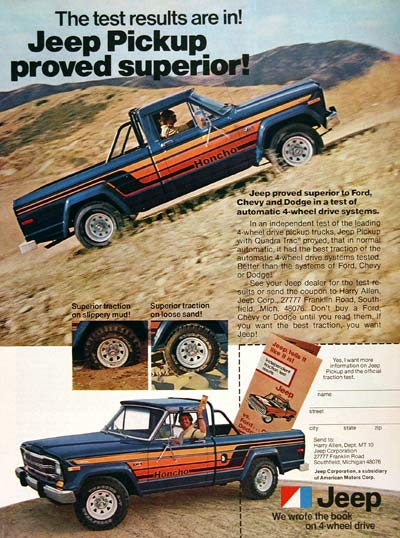 1979 Jeep Honcho Pickup #004556