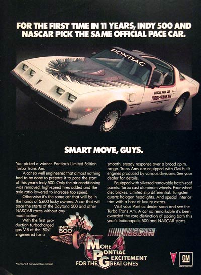 1980 Pontiac Turbo Trans Am Pace Car #005903