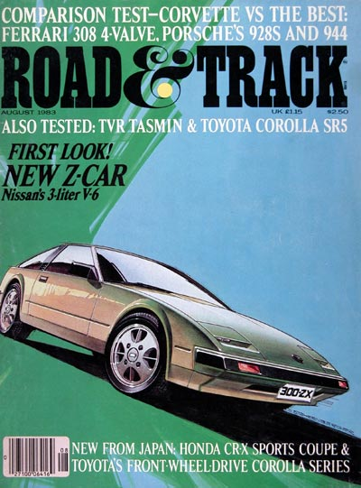 1983 Road & Track Cover ~ Nissan Z Car #023951