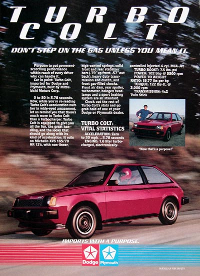 1984 Dodge Plymouth Turbo Colt #023984