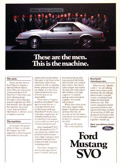 1984 Ford Mustang SVO #002569