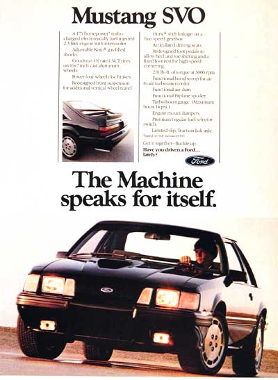 1984 Ford Mustang SVO #002567