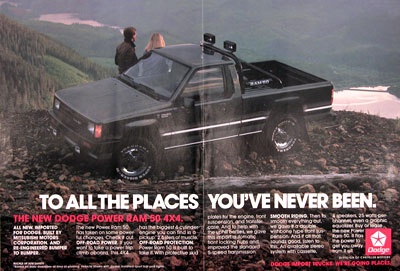 1987 Dodge Power Ram 50 4x4 Vintage Ad
